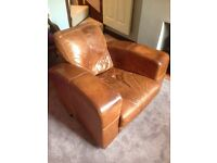 DFS Tan 3 seater settee/sofa and matching armchair - SOLD PENDING COLLECTION