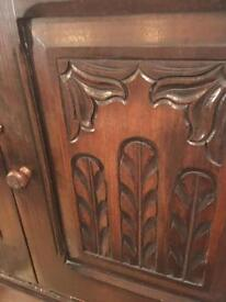 Chest of drawers with cupboard