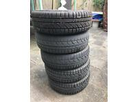 175/65/14 mud and snow tyres with rims