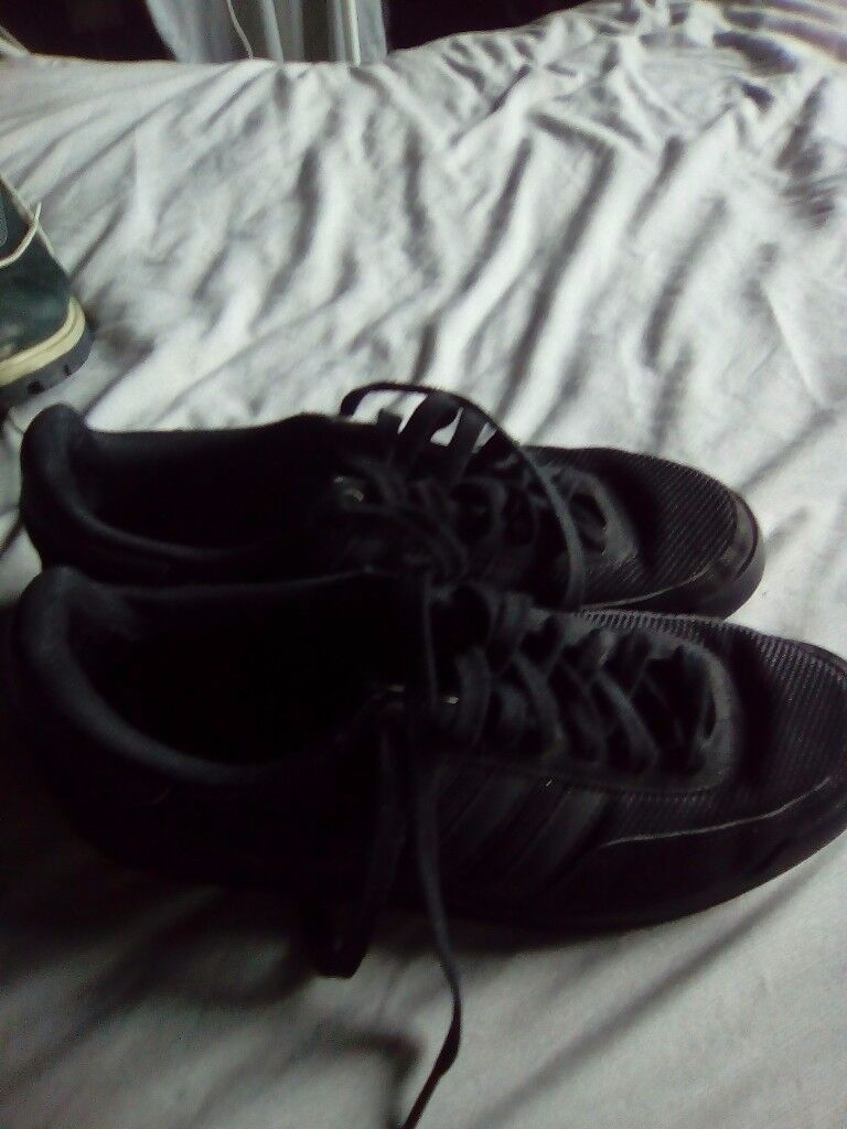 Adidas trainers all black size 9