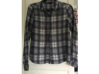 River Island Checked Shirt Size 8