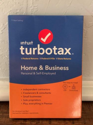 TURBO TAX Intuit Home and Business 2019 Personal & Self Employed Win/Mac New