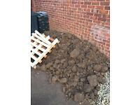 FREE soil. Bags provided for removal