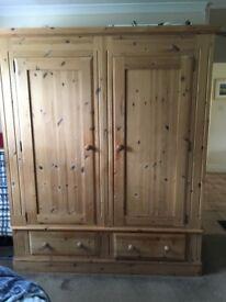 Solid pine wardrobe. Excellent condition