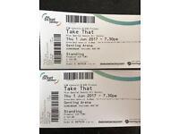 2 x VIP Take That tickets NEC Thursday 1st June