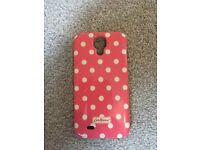 Genuine Cath Kidston Pink with White Dots Mobile Phone Case for Samsung Galaxy