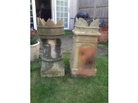King and Queen chimney pots