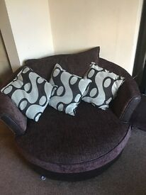 DFS Corner sofa, cuddle chair and footstool