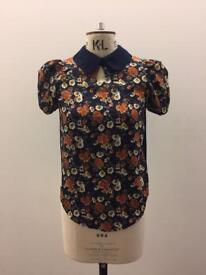 Oriental style blouse top