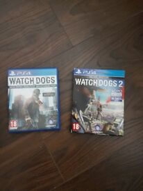 Watchdogs 1 & watchdogs 2 ps4 game