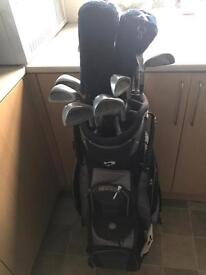 ProTech golf clubs with bag