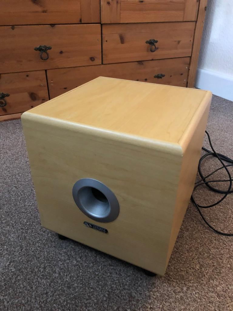 Acoustic solutions AV Sub mkiiiin Wigston, Leicestershire - Active home cinema sub with input cable and power cable included