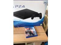 Latest PS4 slim 500GB + Battlefield 1