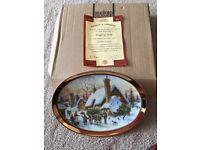 Limited Edition Davenport Christmas Plate. Brand new