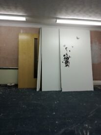 FREE lights, plasterboard sheets and wooden partition walls