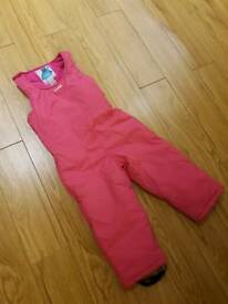 Kids ski trousers salopettes & thermals 3-4 years