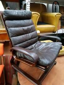 Vintage Danish Leather Armchairs