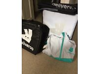 Deliveroo large and small thermal bags, waterproof coat and trousers