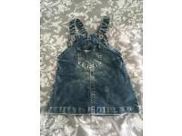 Next denim pinafore dress 3-6 months