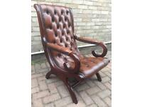 Chesterfield slipper chair (delivery available)