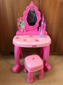 Girls Disney princess dressing table