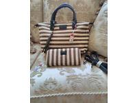 Brand new NESS handbag with matching purse.