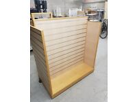 Shop displays slat wall stands on wheels