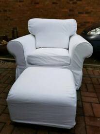 Arm chair and puffy