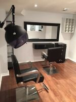 Salon as well as lash bar for rent  separately