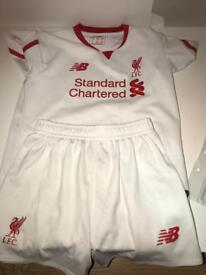 Liverpool FC kit white 4/5 years