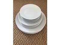 New White Ikea 365 Range Dinner Dining Plate Set x 12 plates Main, side, dessert plates