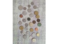 Foreign coins, mixed including old japanese