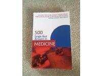500 best single answers in medicine