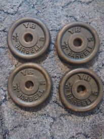 2.5kg York metal weight plates x4 (10kg total)