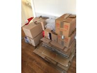 Free moving boxes and packing supplies