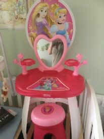 Princess dressing table and stool