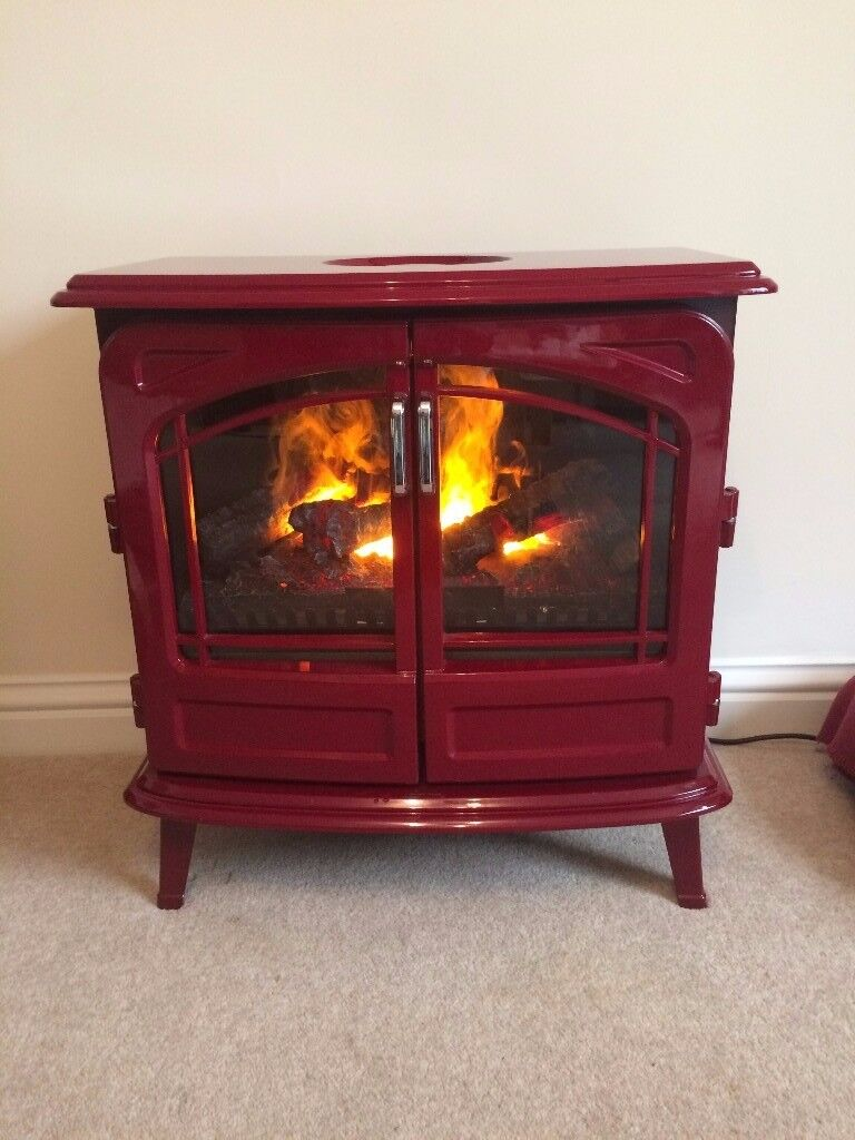 dimplex opti myst grand rouge electric stove in sidmouth devon