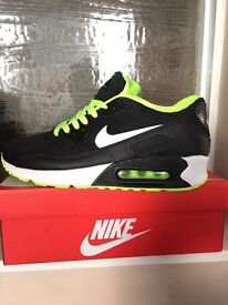 edppn New Nike Air Max 90 Essential Running Shoes Trainer - All White