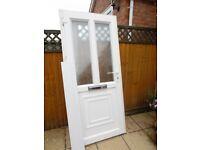 DOUBLE GLAZED UPVC WHITE FRONT DOOR