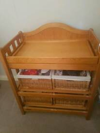 Mamas And Papas Solid Wood Baby Changing Unit