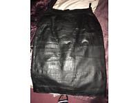 Vintage Leather Skirt size 8