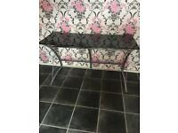Large black glass desk £15