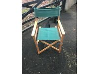 Six green directors chairs for sale good condition, collection only