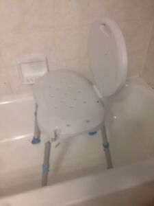 Bathroom safety shower tub bench / chair adjustable leg Heights