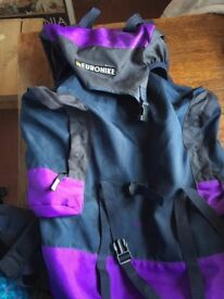 Eurohike rucksack. Hike 501. Great condition. Roomy. On a frame. Zipped side pockets.