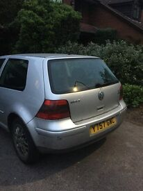 Volkwagon Golf For sale - spares and repairs.
