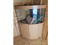 Juwel trigon 190 litre fish tank and stand corner unit with external filter