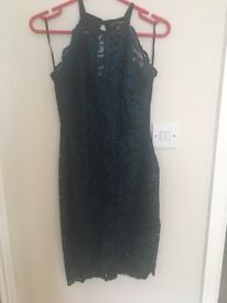 Lipsy laced teal dress size 8