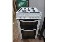 logik gas cooker in white