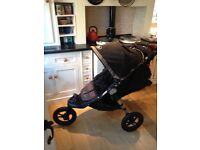 Baby Jogger City Elite Buggy with bassinet, rain cover, fleece liner/footmuff